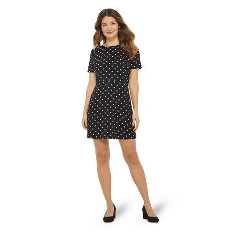 George Women's Printed Short Sleeved Tie Back Dress - image 1 of 6