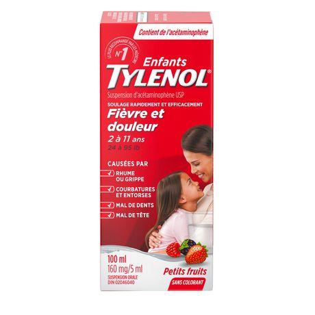 TYLENOL®Children's Acetaminophen Suspension Liquid - Dye-Free Soothing Berry, 100 ml - image 2 of 6