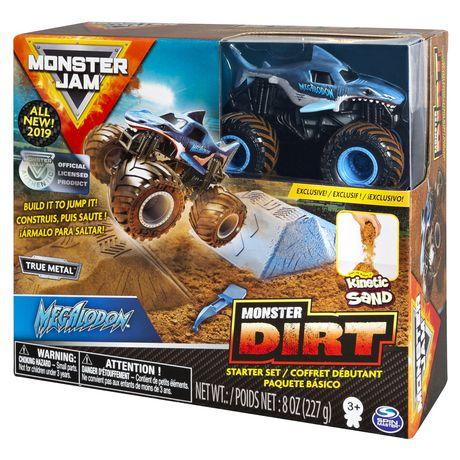 Monster Jam, Megalodon Monster Dirt Starter Set, Featuring 8oz of Monster Dirt and Official 1:64 Scale Die-Cast Truck - image 7 of 7