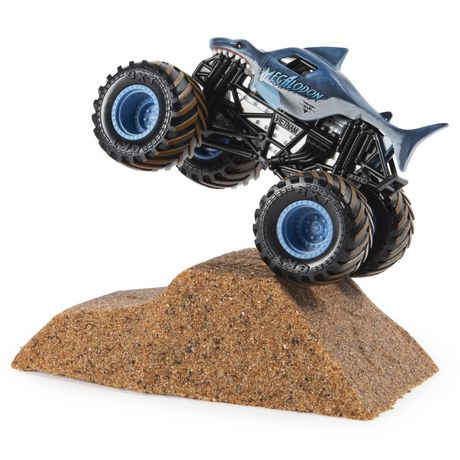 Monster Jam, Megalodon Monster Dirt Starter Set, Featuring 8oz of Monster Dirt and Official 1:64 Scale Die-Cast Truck - image 6 of 7
