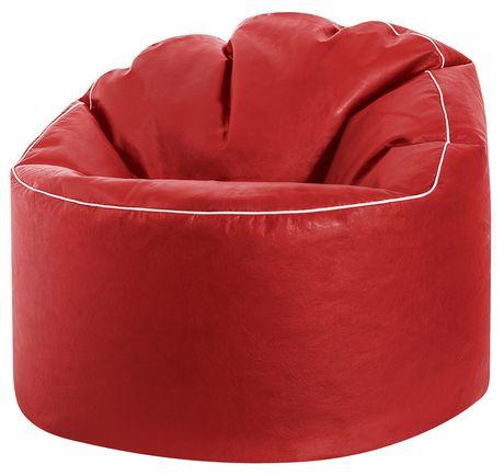 e23e5c2632 Sitting Point Tube Cozy XL Red Beanbag Chair