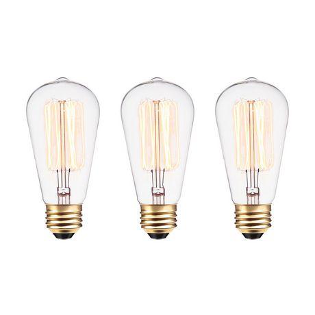 Vintage Edison Filament E26245 D'écureuil 60wPaquet S60 Et Ampoule 3Base Lumens Cage De Incandescente Avec 6IbvYgmf7y