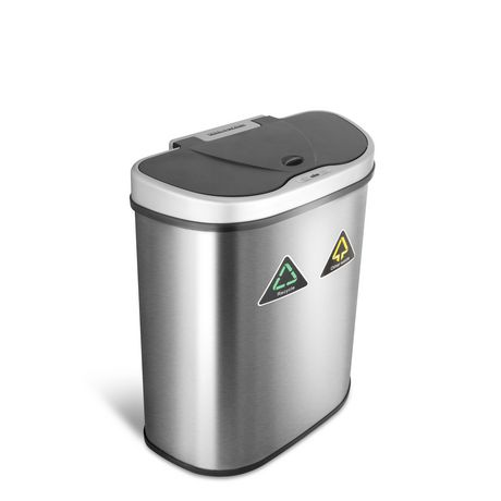 Nine Stars 18.5-Gallon Motion Sensor Recycle Unit and Trash Can - Stainless Steel - image 1 of 5