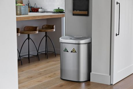Nine Stars 18.5-Gallon Motion Sensor Recycle Unit and Trash Can - Stainless Steel - image 5 of 5