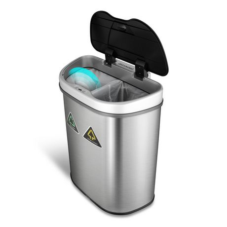 Nine Stars 18.5-Gallon Motion Sensor Recycle Unit and Trash Can - Stainless Steel - image 3 of 5