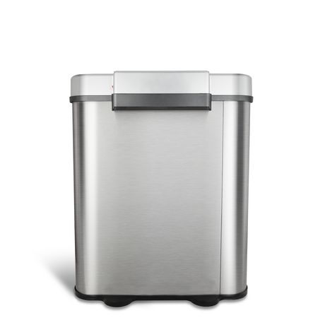 Nine Stars 18.5-Gallon Motion Sensor Recycle Unit and Trash Can - Stainless Steel - image 4 of 5