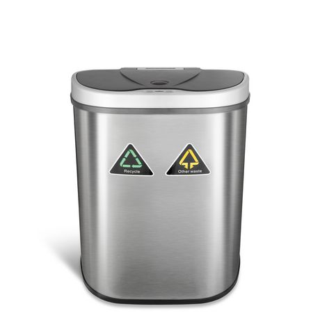 Nine Stars 18.5-Gallon Motion Sensor Recycle Unit and Trash Can - Stainless Steel - image 2 of 5