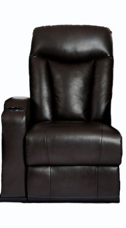 Prime Mounts Single Add-on Black Bonded Leather Power Recliner Home Theatre Seat - image 1 of 7