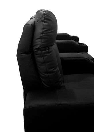 Prime Mounts Single Add-on Black Bonded Leather Power Recliner Home Theatre Seat - image 6 of 7