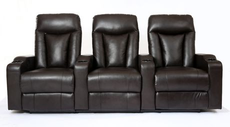 Prime Mounts Single Add-on Black Bonded Leather Power Recliner Home Theatre Seat - image 2 of 7