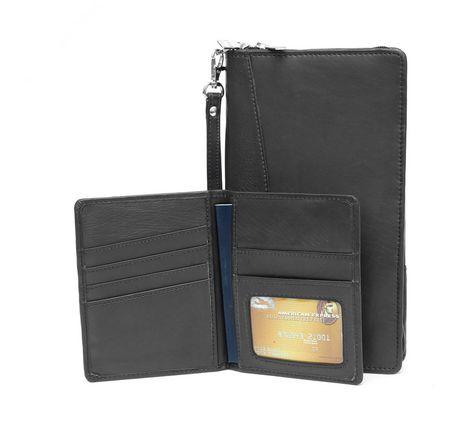 Ashlin Portefeuille en cuir à tickets et couverture de passeport - image 2 de 3