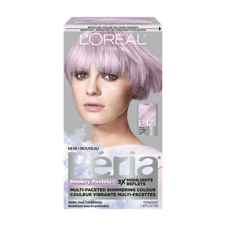 coloration des cheveux permanante fria smokey pastels de loreal paris - Loreal Paris Coloration