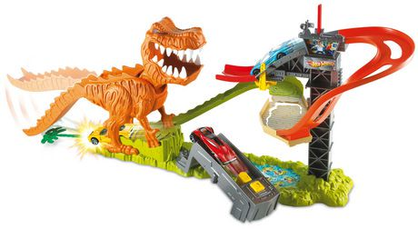 hot wheels t rex takedown playset walmart canada. Black Bedroom Furniture Sets. Home Design Ideas