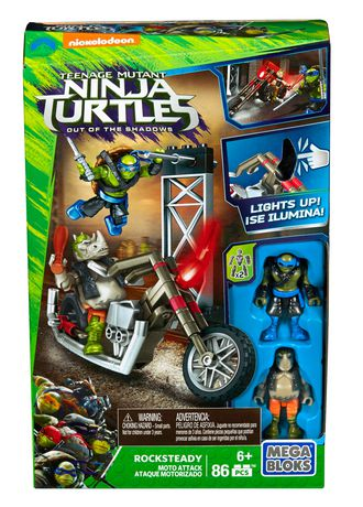 coffret de construction attaque en moto rocksteady des tortues ninja de mega bloks walmartca