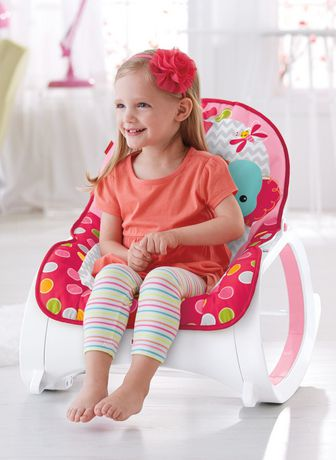 Fisher Price Infant To Toddler Rocker Flowery Chevron