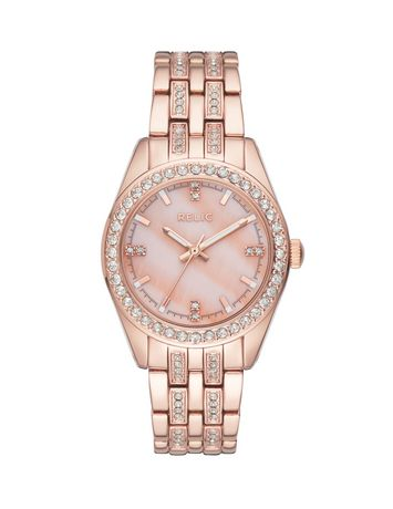 Relic by Fossil Iva Rose Gold-Tone Three-Hand Watch