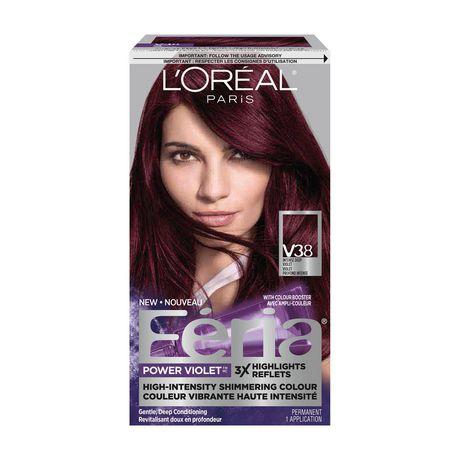 Couleur cheveux violet permanent