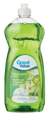 Great Value Green Apple Scent Dishwashing Liquid Walmart Canada