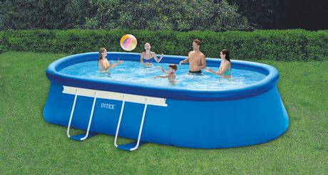 intex 18 ft x 10 ft x 42 in oval metal frame pool set. Black Bedroom Furniture Sets. Home Design Ideas