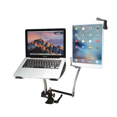 CTA Digital CTA Heavy-Duty Dual Gooseneck Clamp Stand with Laptop And Tablet Holders (7-13 Inch Tablets) - image 1 of 4