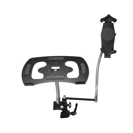 CTA Digital CTA Heavy-Duty Dual Gooseneck Clamp Stand with Laptop And Tablet Holders (7-13 Inch Tablets) - image 4 of 4