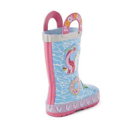 Weather Spirits Toddler Girls' Pool Dinosaur Rubber Boots - image 4 of 4