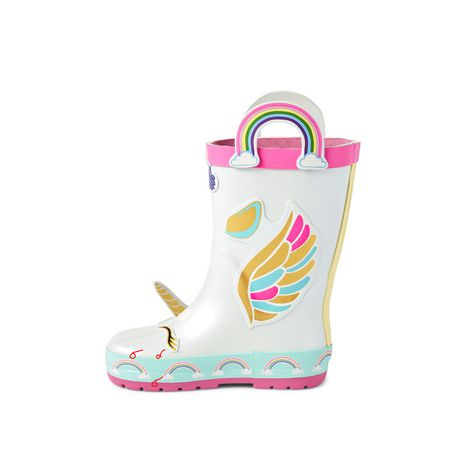 Weather Spirits Toddler Girls' Unicorn Rainboots - image 3 of 4