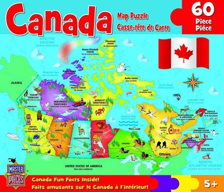 MasterPieces Canada Map Jigsaw Puzzle 60 Piece  Walmart Canada