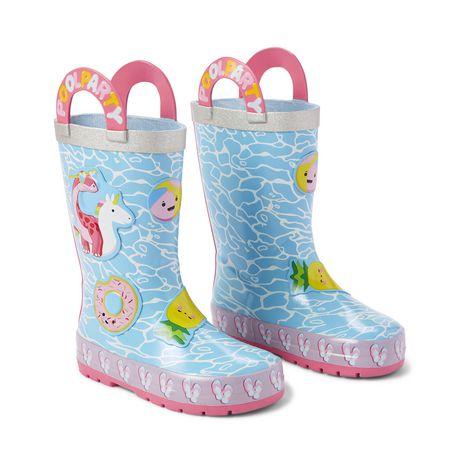 Weather Spirits Toddler Girls' Pool Dinosaur Rubber Boots - image 2 of 4