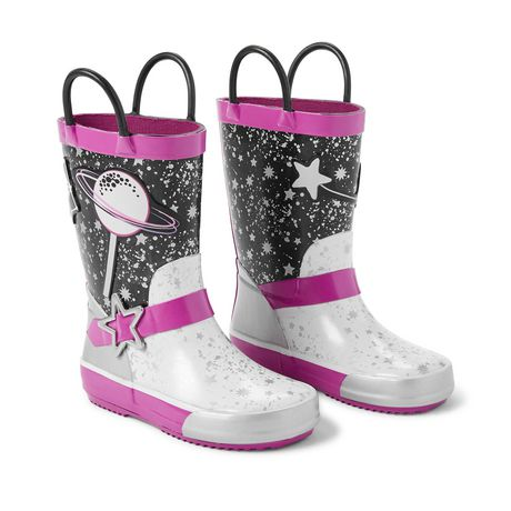 Weather Spirits Toddler Girls' Pool Space Rainboots - image 2 of 4