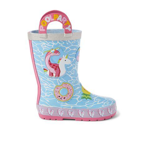 Weather Spirits Toddler Girls' Pool Dinosaur Rubber Boots - image 1 of 4