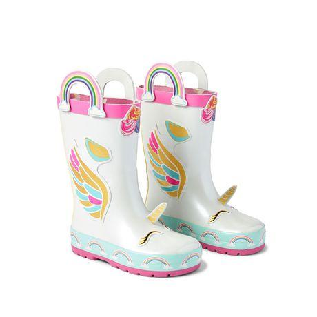 Weather Spirits Toddler Girls' Unicorn Rainboots - image 2 of 4