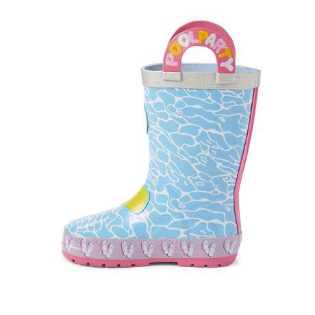 Weather Spirits Toddler Girls' Pool Dinosaur Rubber Boots - image 3 of 4