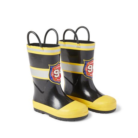 Weather Spirits Toddler Boys' Firefighter Rainboots - image 2 of 4