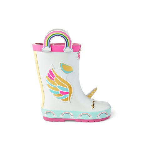 Weather Spirits Toddler Girls' Unicorn Rainboots - image 1 of 4