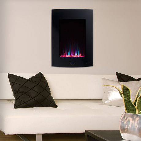 Vertical Curved Wall Mount Fireplace Walmart Canada