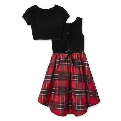 George Girls' Plaid Dress and Velour Bolero 2-Piece Set - image 2 of 2