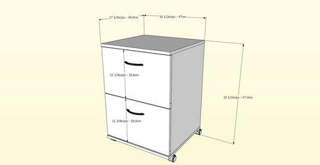 Filière mobile à 2 tiroirs Essentiels de Nexera, noyer - image 3 de 3