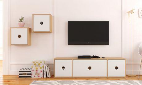 Unités murales Domino, 2 unités, Érable naturel et blanc - image 4 de 6