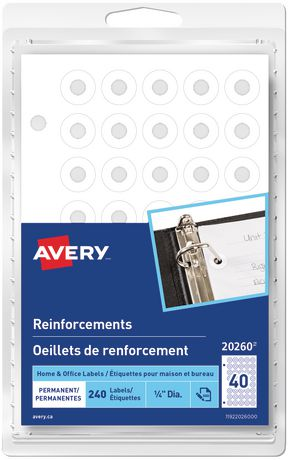 Avery® Permanent White Reinforcements Labels - image 1 of 1