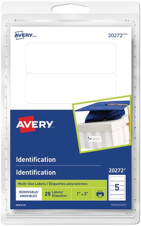 Avery® Removable White Identification Labels - image 1 of 1