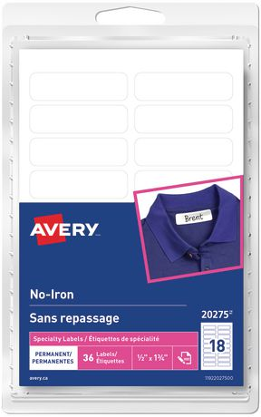 Avery Permanent No Iron White Clothing Labels Walmart Canada