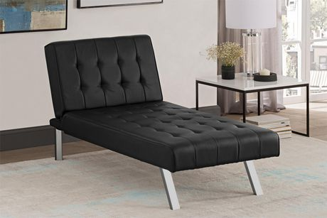 Dhp Emily Faux Leather Chaise Lounger Walmart Canada