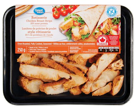 Great Value Rotisserie Chicken Breast Strips - image 1 of 3