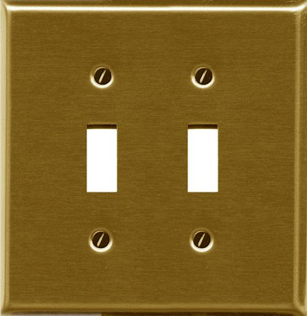 Atron Electro Industries Traditional Brass Double Toggle Wall Plate