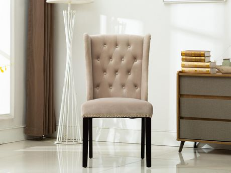 MILA  SET OF TWO ACCENT CHAIRS-GREY - image 1 of 4
