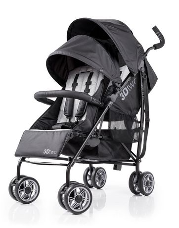 Summer Infant 3Dtwo Double Convenience Stroller - Black ...