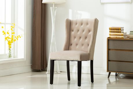 MILA  SET OF TWO ACCENT CHAIRS-GREY - image 2 of 4