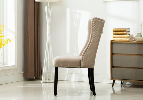 MILA  SET OF TWO ACCENT CHAIRS-GREY - image 3 of 4