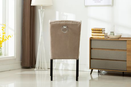 MILA  SET OF TWO ACCENT CHAIRS-GREY - image 4 of 4